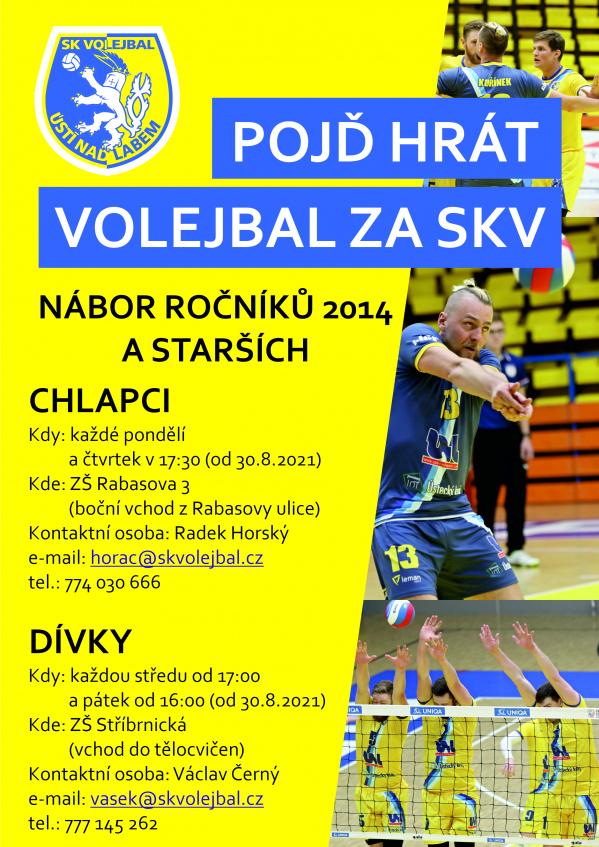 Přijď hrát volejbal za SKV!